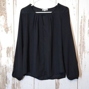 Pleione black blouse